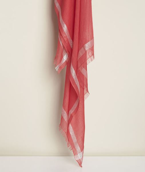 Picture of ORELIA CORAL LUREX SCARF